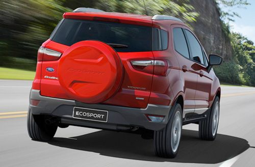 Ford Ecosport rear view, specs, pictures