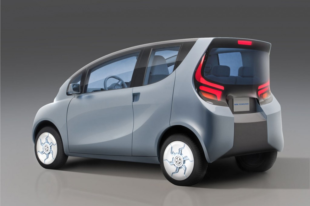 Tata Electric Car Emo Pictures - Rear View