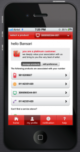 Airtel MyApp - Welcome the User
