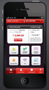 Airtel MyApp - Bill Screen
