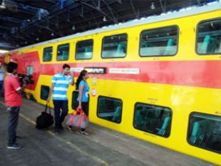 Indian Rail AC Double Decker