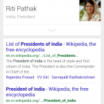 riti pathak president of india google mobile
