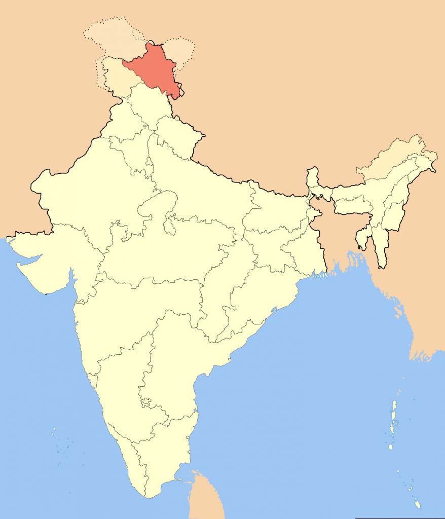 New India Map 2019 with Ladakh UT